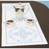 """Jack Dempsey Stamped Table Runner/Scarf 15""""X42""""-XX Americana"""