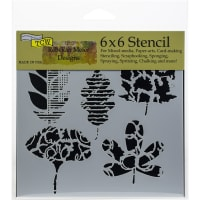 "Crafter's Workshop Template 6""X6""-Leaf Collection"