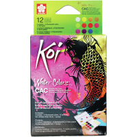 Koi Creative Art Water Color Field Sketch Set - 12 Colors-Assorted Colors