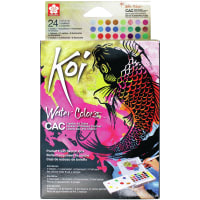 Koi Creative Art Water Color Field Sketch Set - 24 Colors-Assorted Colors
