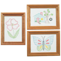 """Jack Dempsey Stamped Embroidery Kit Samplers 6""""X8"""" 3/Pkg-Outside Fun"""