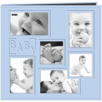 "Pioneer Embossed Collage Frame Post Bound Album 12""X12""-Baby - Blue"