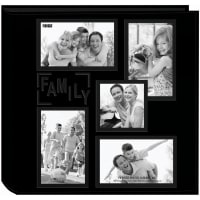 "Pioneer 5-Up Sewn Embossed Collage Frame Photo Album 12""X12""-Family"