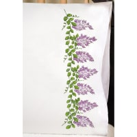 "Tobin Stamped For Embroidery Pillowcase Pair 20""X30""-Wisteria"