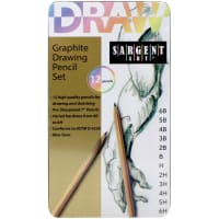 Drawing Pencil Tin Set 12/Pkg-