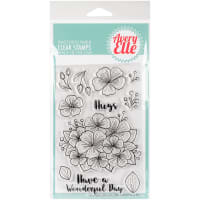 "Avery Elle Clear Stamp Set 4""X6""-Floral Bouquet"