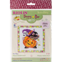 """RIOLIS Counted Cross Stitch Kit 6""""X6""""-Happy Halloween (10 Count)"""