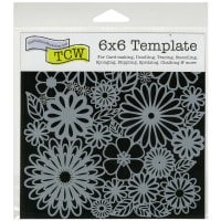 """Crafter's Workshop Template 6""""X6""""-Flower Frenzy"""