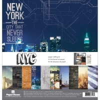"""Paper House Paper Crafting Kit 12""""X12""""-New York City"""