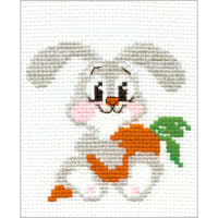 "RIOLIS Counted Cross Stitch Kit 6.25""x5""-Lop-Eared Bunny (10 Count)"