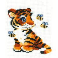 """RIOLIS Counted Cross Stitch Kit 6""""X7""""-Stripies (10 Count)"""