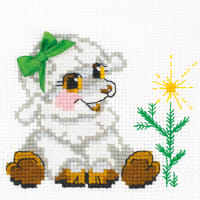 """RIOLIS Counted Cross Stitch Kit 6""""X6""""-Little Lamb (10 Count)"""