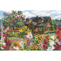 "RIOLIS Counted Cross Stitch Kit 15""X10.25""-Flowering Garden (15 Count)"