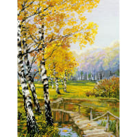 """RIOLIS Counted Cross Stitch Kit 10.25""""X15""""-The Birches (14 Count)"""