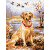 "RIOLIS Counted Cross Stitch Kit 11.75""X15.75""-Labrador (14 Count)"