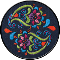 """Bucilla Stamped Embroidery Kit 6"""" Round-Bohemian Paisley"""
