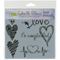 """Crafter's Workshop Template 6""""X6""""-Complicated Hearts"""