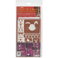 "Over 'N' Over Reusable Stencils 5""X8""-Easter"
