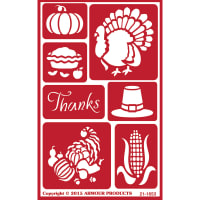 "Over 'N' Over Reusable Stencils 5""X8""-Give Thanx"