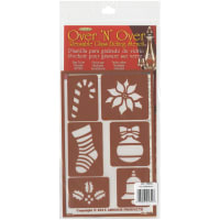 "Over 'N' Over Reusable Stencils 5""X8""-Christmas 2"