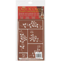 "Over 'N' Over Reusable Stencils 5""X8""-Roses"