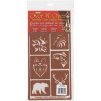 "Over 'N' Over Reusable Stencils 5""X8""-Wild Things"
