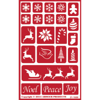 "Over 'N' Over Reusable Stencils 5""X8""-Holiday Baubles"