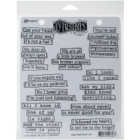 "Dyan Reaveley's Dylusions Cling Stamp Collections 8.5""X7""-How About Never"