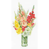 "RIOLIS Counted Cross Stitch Kit 10.25""X19""-Bouquet Of Fladioli (14 Count)"