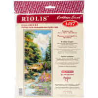 "RIOLIS Counted Cross Stitch Kit 7.75""X19.75""-Mountain River (14 Count)"
