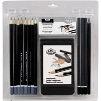 Clamshell Art Sets-Sketching Pencil W/Sketchbook 13/Pkg