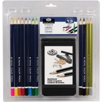 Clamshell Art Sets-Drawing Pencil W/Sketchbook 13/Pkg