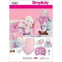 SIMPLICITY STUFFED PUPPY & ACCESSORIES-ONE SIZE