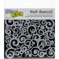 """Crafter's Workshop Template 6""""X6""""-Cosmic Swirl"""