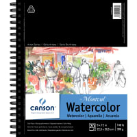 """Canson Watercolor Pad 9""""X12""""-20 Sheets"""