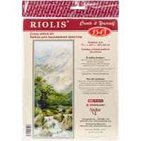 "RIOLIS Counted Cross Stitch Kit 7.75""X19.75""-Mountain River II (14 Count)"