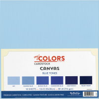 "My Colors Canvas Cardstock Bundle 12""X12"" 18/Pkg-Blue Tones"