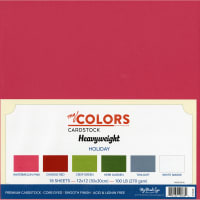 "My Colors Heavyweight Cardstock Bundle 12""X12"" 18/Pkg-Holiday"
