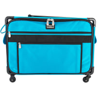"TUTTO Machine On Wheels Case-23""X14.25""X14"" Turquoise"