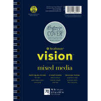 "Strathmore Vision Vellum Mixed Media Pad 5.5""X8.5""-98lb, 70 Sheets"