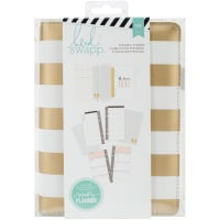 "Heidi Swapp Personal Memory Planner 5.5""X8""-Gold Foil Stripe"