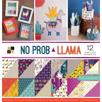 "DCWV Double-Sided Cardstock Stack 12""X12"" 36/Pkg-No Prob Llama, 18 Designs/2 Each"