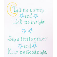 """Jack Dempsey Stamped White Sampler 11""""X14""""-Kiss Me Goodnight"""