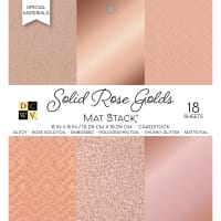 "DCWV Single-Sided Cardstock Stack 6""X6"" 18/Pkg-Solid Rose Golds, 6 Designs/3 Each"