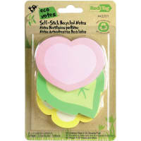 Redi-Tag DieCut Sticky Note Pads 150/Pkg-Heart, Flower And Leaf