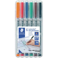 Lumocolor NonPermanent 1.0mm Pens 6/Pkg
