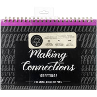 "Kelly Creates Small Brush Workbook 11.6""X10"" 128/Pkg-Connections/Greetings"