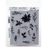 "Tim Holtz Cling Stamps 7""X8.5""-Winter Watercolor"