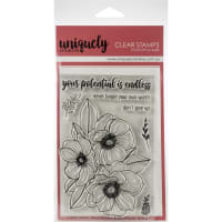 "Uniquely Creative 4""X6"" Clear Stamps 7/Pkg-Endless Potential Bloom"