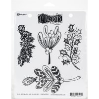 """Dyan Reaveley's Dylusions Cling Stamp Collections 8.5""""X7""""-Kiss Me Under The Mistletoe"""